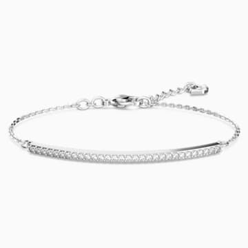 Only Bracelet, White, Rhodium plated - Swarovski, 5460440