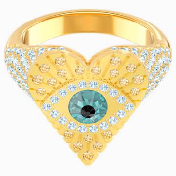 Bague avec motif Lucky Goddess Heart, multicolore, Métal doré - Swarovski, 5461778