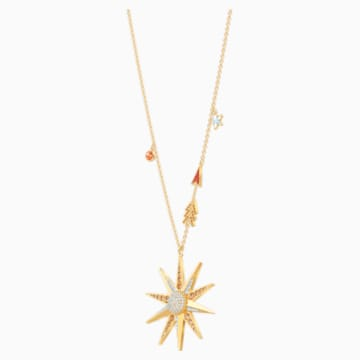 Lucky Goddess Star Necklace, Multi-colored, Gold-tone plated - Swarovski, 5461784