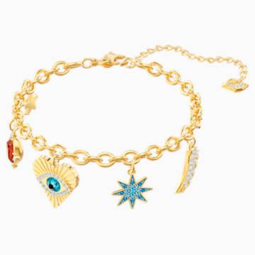 Lucky Goddess Charms Bracelet, Multi-colored, Gold-tone plated - Swarovski, 5461796