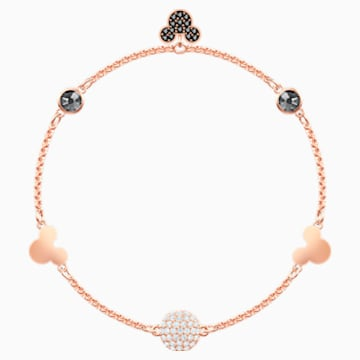 Swarovski Remix Collection Mickey Strand, Multi-coloured, Rose-gold tone plated - Swarovski, 5462360