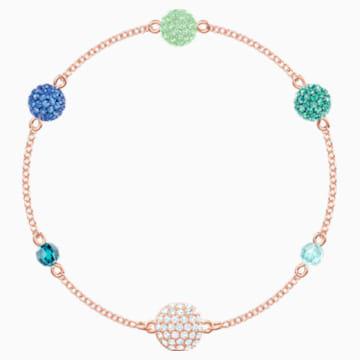 Swarovski Remix Collection Pop Strand, verde, Baño en tono Oro Rosa - Swarovski, 5462653