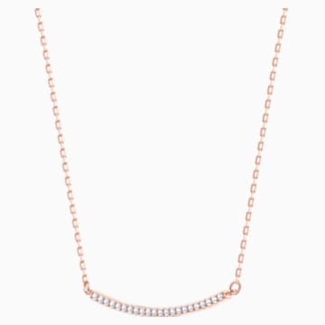 Only Necklace, White, Rose-gold tone plated - Swarovski, 5464129