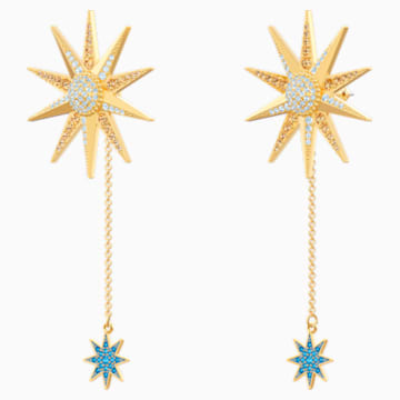Lucky Goddess Pierced Earrings, Multi-coloured, Gold-tone plated - Swarovski, 5464169