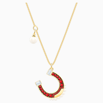 Lucky Goddess Horse Necklace, Multi-colored, Gold-tone plated - Swarovski, 5464197