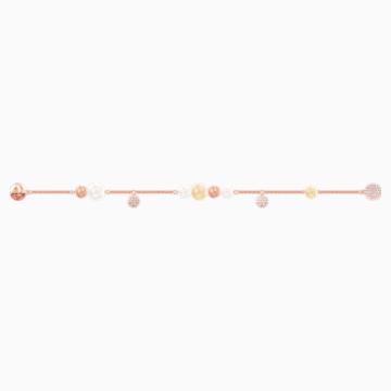 Swarovski Remix Collection Pearl Strand, Multi-coloured, Rose-gold tone plated - Swarovski, 5464297