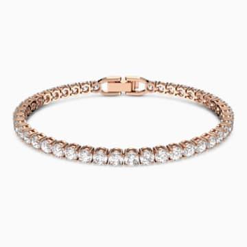 Braccialetto Tennis, bianco, Placcato oro rosa - Swarovski, 5464948
