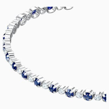 Subtle Bracelet, Blue, Rhodium plated - Swarovski, 5465383
