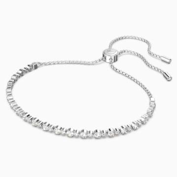 Pulsera Subtle, blanco, Baño de Rodio - Swarovski, 5465384