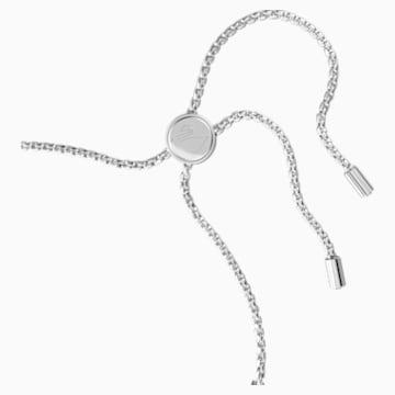 Braccialetto Subtle, bianco, Placcatura rodio - Swarovski, 5465384