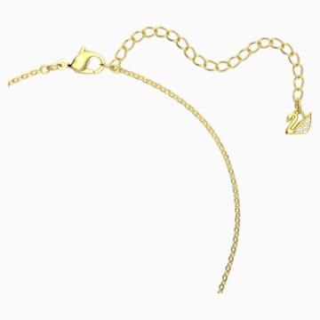 Iconic Swan 鏈墜, 紅色, 鍍金色色調 - Swarovski, 5465400