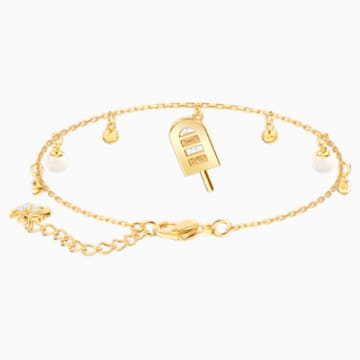 No Regrets Ice Cream Bracelet, Multi-colored, Gold-tone plated - Swarovski, 5465411