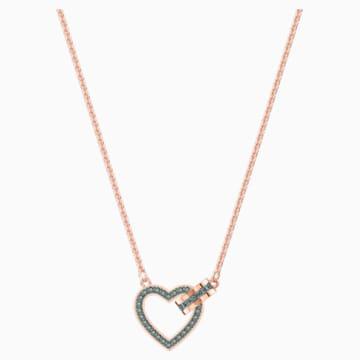 Lovely Necklace, Grey, Rose-gold tone plated - Swarovski, 5465686