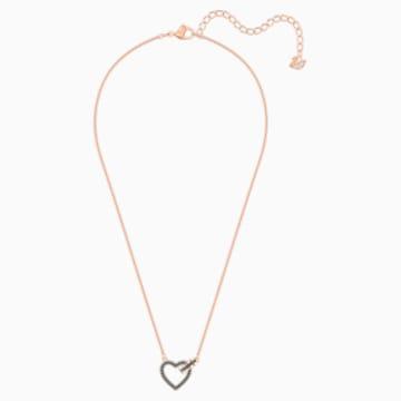 Lovely Halskette, grau, Rosé vergoldet - Swarovski, 5465686