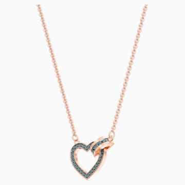 Lovely Necklace, Gray, Rose-gold tone plated - Swarovski, 5465686