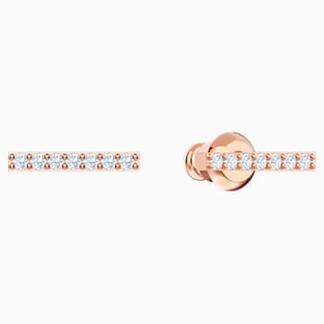 Only Ohrringe, weiss, Rosé vergoldet - Swarovski, 5465785