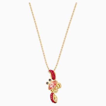 Ocean Crab Pendant, Multi-colored, Gold-tone plated - Swarovski, 5465940