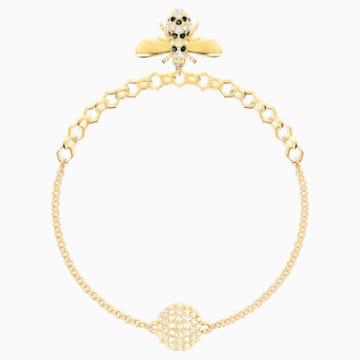 Swarovski Remix Collection Bee Strand, Черный Кристалл, Покрытие оттенка золота - Swarovski, 5466040