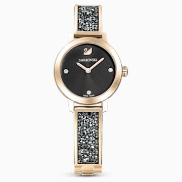 Cosmic Rock Watch, Metal bracelet, Grey, Champagne-gold tone PVD - Swarovski, 5466205
