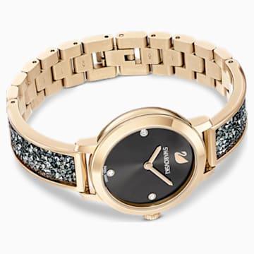 Montre Cosmic Rock, Bracelet en métal, gris, PVD doré champagne - Swarovski, 5466205