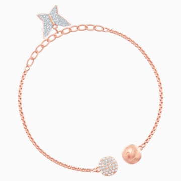 Swarovski Remix Collection Lilia Strand, White, Rose-gold tone plated - Swarovski, 5466823