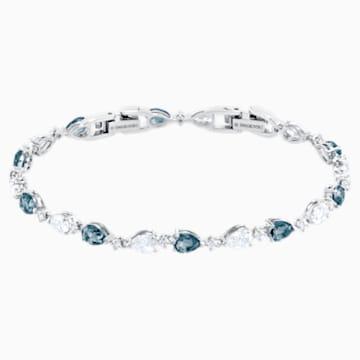 Vintage-armband, Blauw, Rodium-verguld - Swarovski, 5466882