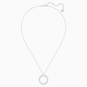 Naeli Necklace, White, Rhodium plated - Swarovski, 5467454
