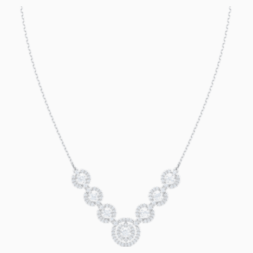 Sparkling Dance Necklace, White, Rhodium plated - Swarovski, 5467787