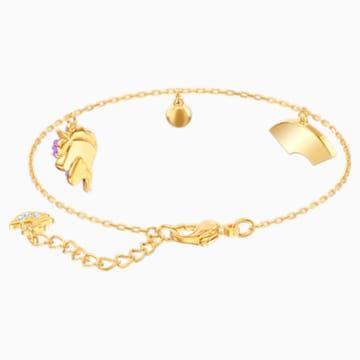 Out of this World Unicorn 手链, 彩色设计, 镀金色调 - Swarovski, 5468316