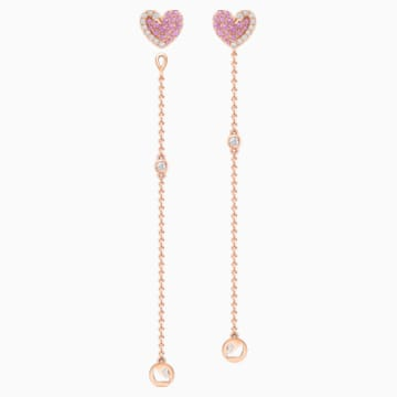 18K RG Swan Heart Earrings (Pink) - Swarovski, 5468487