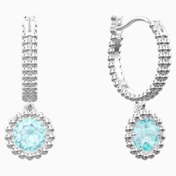 Oxygen Pierced Earrings, Green, Rhodium plated - Swarovski, 5468719