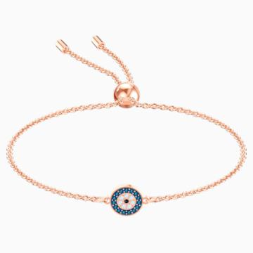 Luckily 手链, 彩色设计, 镀玫瑰金色调 - Swarovski, 5468924