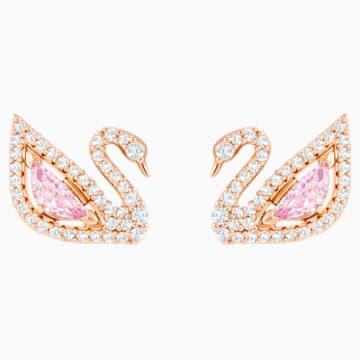 Pendientes Dazzling Swan, multicolor, Baño en tono Oro Rosa - Swarovski, 5469990