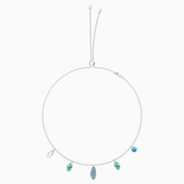 Organic Choker, Multi-colored, Rhodium plated - Swarovski, 5470520