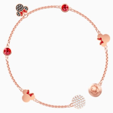 Swarovski Remix Collection Minnie Strand, Multi-colored, Rose-gold tone plated - Swarovski, 5470625