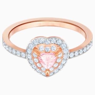 One Ring, Multi-coloured, Rose-gold tone plated - Swarovski, 5470690