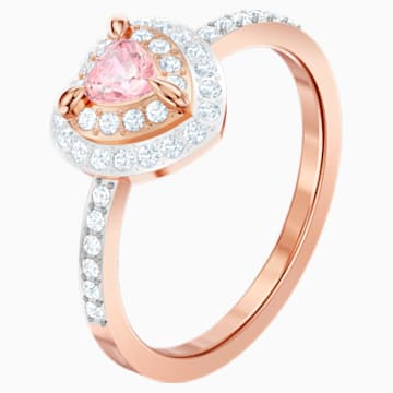 One Ring, Multi-colored, Rose-gold tone plated - Swarovski, 5470692