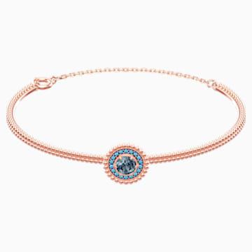 Bracelet-jonc Oxygen, gris, Métal doré rose - Swarovski, 5470970