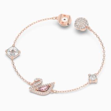 Bracelet Dazzling Swan, multicolore, Métal doré rose - Swarovski, 5472271