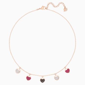 Ginger Choker, Multi-colored, Rose-gold tone plated - Swarovski, 5472449