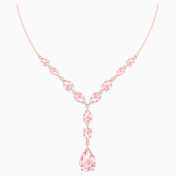Collar Vintage, Rosa, Baño en tono Oro Rosa - Swarovski, 5472610