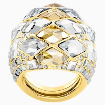 Notorious 鸡尾酒戒指, 彩色设计, 镀金色调 - Swarovski, 5473761