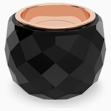 Swarovski Nirvana Ring, Black, Rose-gold tone PVD - Swarovski, 5474367