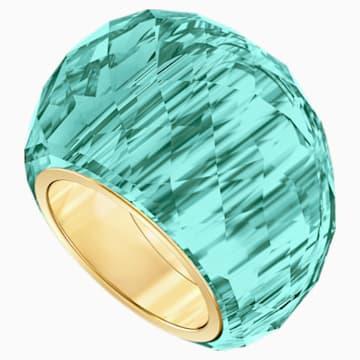 Swarovski Nirvana gyűrű, vízkék színű, aranyszínű PVD bevonattal - Swarovski, 5474370