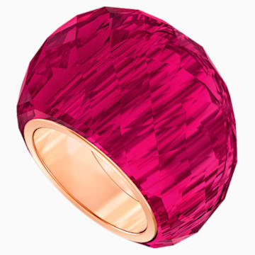 Swarovski Nirvana Ring, Red, Rose-gold tone PVD - Swarovski, 5474377