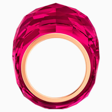Prsten Nirvana Swarovski, červený, pozlacený růžovým zlatem PVD - Swarovski, 5474377