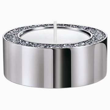Suport pentru lumânare tip pastilă, mic, nuanță argintie - Swarovski, 5474386
