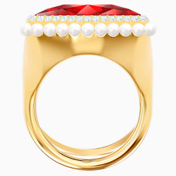 Bague cocktail Lucky Goddess, rouge, Métal doré - Swarovski, 5474552