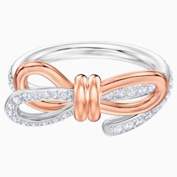 Δαχτυλίδι Lifelong Bow, μεσαίο, λευκό, φινίρισμα μικτών μετάλλων - Swarovski, 5474932