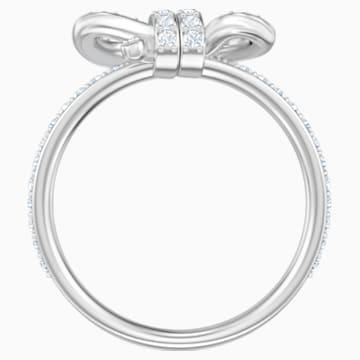 Bague Lifelong Bow, petit, blanc, Métal rhodié - Swarovski, 5474936
